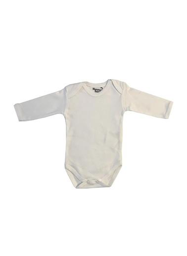 Mummy's Baby Mummy's Baby Uzun Kollu  Body Beyaz 3-6 Ay Beyaz